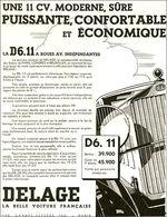 Une 11 CV. Moderne, Sûre Puissante, Confortable Et Economique | Print Ads