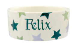 Personalised Winter Stars Small Pet Bowl | Ceramics | Winter Stars Small Pet Bowl