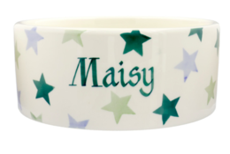 Personalised Winter Stars Large Pet Bowl | Ceramics | Winter Stars Large Pet Bowl