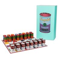 Andy Warhol Campbells Soup Can Chess Set   Chess Sets & Boards