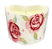 Rose & Bee Heart Candle - Emma Bridgewater  | Ceramics | Rose & Bee Heart Candle