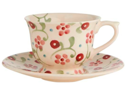 Little Pink Flowers Small Teacup and Saucer - Emma Bridgewater | Ceramics | Little Pink Flowers Teacup and Saucer