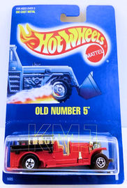 Old Number 5     | Model Trucks | HW 1990 - Collector # 1 - Old Number 5 - Red - BW Wheels - USA Blue Card