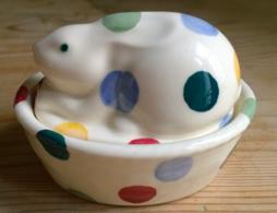 Polka Dot Bunny Coddler - Emma Bridgewater  | Ceramics | Polka Dot Bunny Coddler