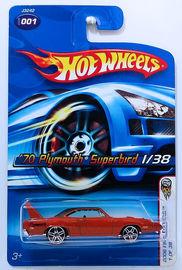 '70 Plymouth Superbird | Model Cars | HW 2006 - Collector # 001/223 - First Editions 1/38 - '70 Plymouth Superbird - Metallic Dark Orange - PR5 - USA Card