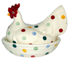Polka Dot Hen on Nest  - Emma Bridgewater  | Ceramics | Polka Dot Hen on Nest