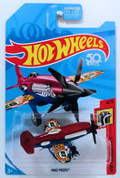 Mad Propz | Model Aircraft | HW 2018 - Collector # NONE - HW Daredevils 4/5 - Mad Propz - Red & Blue - USA '50th' Card