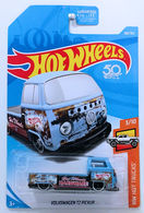 Volkswagen T2 Pickup | Model Trucks | HW 2018 - Collector # 108/365 - HW Hot Trucks 3/10 - Volkswagen T2 Pickup - Matte Blue - USA '50th' Card