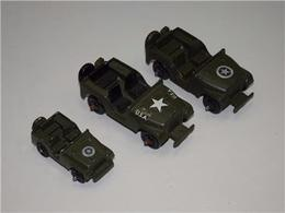 US Army Willy's Jeep Set of 3 | Model Military Tanks & Armored Vehicles