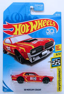 '68 Mercury Cougar | Model Cars | HW 2018 - Collector # 106/365 - HW Speed Graphics 8/10 - '68 Mercury Cougar - Red - Champion - USA '50th' Card