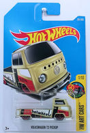 Volkswagen T2 Pickup | Model Trucks | HW 2017 - Collector # 201/365 - HW Art Cars 1/10 - Volkswagen T2 Pickup - Flat Dark Khaki - USA Card with 'NEW For 2017'