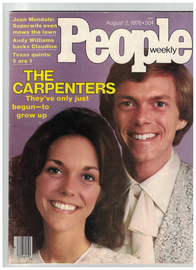 The Carpenters 1976 Vintage People Magazine   | Posters & Prints