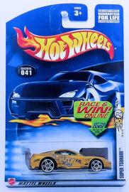 Super Tsunami | Model Cars | HW 2002 - Collector # 041/240 - First Editions 29/42 - Super Tsunami - Gold - USA Race & Win Card