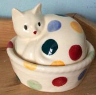 Polka Dot Cat Coddler - Emma Bridgewater  | Ceramics | Polka Dot Cat Coddler