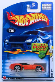 Pony-Up   | Model Cars | HW 2002 - Collector # 046/240 - First Editions 34/42 - Pony-Up - Metallic Orange - USA 'Race & Win' Card