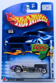 Rocket Oil Special | Model Cars | HW 2002 - Collector # 048 - First Editions 36/42 - Rocket Oil Special - Purple - USA Race & Win Card