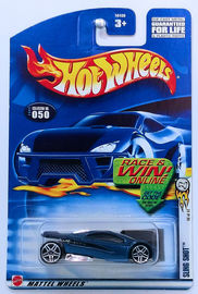 Sling Shot   | Model Cars | HW 2002 - Collector # 050/240 - First Editions 38/42 - Sling Shot - Metallic Blue - USA 'Race & Win' Card