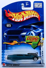 Syd Mead's Sentinel 400 Limo | Model Cars | HW 2002 - Collector # 054/240 - Series 42/42 - Syd Mead's Sentinel 400 Limo - Metallic Teal - USA 'Race & Win' Card