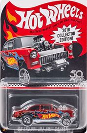 '55 Chevy Bel Air Gasser | Model Racing Cars | Hot Wheels 2018 K-Mart Mail-In Collector Edition
