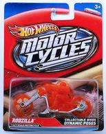 Rodzilla | Model Motorcycles | HW 2012 - Motor Cycles # X4228 - Rodzilla (Ghost Rider) - Transparent Orange
