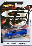 '63 Corvette Sting Ray | Model Cars | Hot Wheels G-Machine 63 Corvette Dark Blue