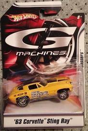 '63 Corvette Sting Ray | Model Cars | Hot Wheels G-Machine 63 Corvette Yellow
