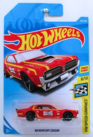 '68 Mercury Cougar | Model Cars | HW 2018 - Collector # 106/365 - HW Speed Graphics 8/10 - '68 Mercury Cougar - Red - Champion - International Long Card