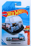 Volkswagen T2 Pickup | Model Trucks | HW 2018 - Collector # 108/365 - HW Hot Trucks 3/10 - Volkswagen T2 Pickup - Matte Blue - International Long Card
