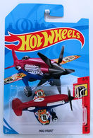 Mad Propz | Model Aircraft | HW 2018 - Collector # NONE - HW Daredevils 4/5 - Mad Propz - Red & Blue - International Long Card