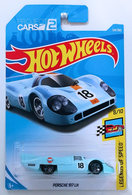 Porsche 917 LH | Model Racing Cars | HW 2018 - Collector # 124/365 - Legends of Speed 8/10 - Porsche 917 LH - Powder Blue / Gulf Racing - International Long Card