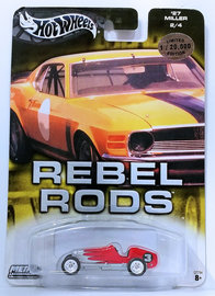 '27 Miller | Model Cars | HW 2004 - Auto Affinity / Rebel Rods # 2/4 - '27 Miller - Red - Metal & Real Riders