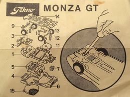 Tekno 930 931 Monza GT / GT Spider Instructions | Manuals & Instructions | photo: Ole