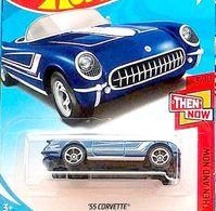 '55 Corvette | Model Cars | Hot Wheels 55 Corvette Blue