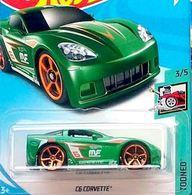 C6 Corvette ('Tooned)   Model Cars   Hot Wheels C6 Corvette Tooned Green