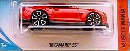 '18 Camaro SS    Model Cars   2018 Hot Wheels 18 Camaro SS Red