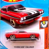 '70 Dodge HEMI Challenger   Model Cars   Hot Wheels 70 Dodge Hemi Challenger Red