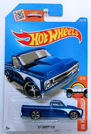 '67 Chevy C10 | Model Trucks | HW 2016 - Collector #143/250 - HW Hot Trucks #3/10 - '67 Chevy C10 - Metallic Blue - International Long Card