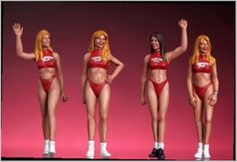 Hawaiian Tropic Girls Set   Figure & Toy Soldier Sets