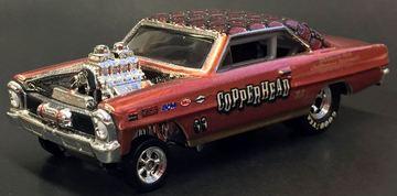 '66 Nova Gasser | Model Cars | Hot Wheels 18th Nationals '66 Nova Gasser Copper