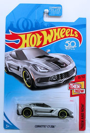 Corvette C7 Z06 | Model Cars | HW 2018 - KMart Exclusive - Then And Now 8/10 - Corvette C7 Z06 - Silver - USA '50th' Card