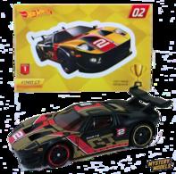 Ford GT | Model Cars | HW 2018 - Mystery Models 02/12 - Ford GT - Matte Black - Foil Pillow Pack - CHASE