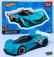 Mazda Furai | Model Racing Cars | HW 2018 - Mystery Models Series 1 # 04/12 - Mazda Furai - Metallic Turquoise - Foil Pillow Pack + Sticker