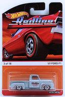 '49 Ford F1 | Model Trucks | HW 2015 - Heritage / Redline 03/18 - '49 Ford F1 - Silver - Retro Red Line Tires & Wheels