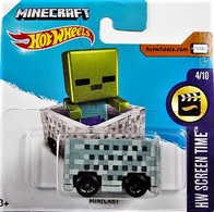 Minecart | Model Trains (Rolling Stock) | 2017 Hot Wheels Minecart (HW Screen Time) International Short Card