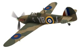 Hawker Hurricane Mk.1 N2359/YB-J, 'Winged Popeye', RAF No.17 Sqn | Model Aircraft