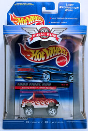 Street Roader | Model Trucks | HW 1999 - Final Run 05/12 - Street Roader - Metallic Red - White ORSB Wheels - Display Box with Blister Card