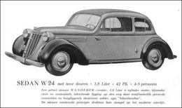 Sedan W-24 Met Twee Deuren | Print Ads