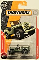 '43 Jeep Willys (MBX Rescue) Matchbox 2018 | Model Cars | 2018 Matchbox '43 Jeep Willys (MBX Rescue) 65 Anniversary Card