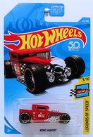Bone Shaker | Model Trucks | HW 2018 - Collector # 122/365 - Legends of Speed 3/10 - Bone Shaker - Red - USA 50th Card