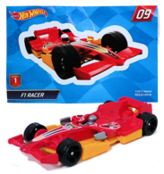 F1 Racer | Model Racing Cars | HW 2018 - Mystery Models Series 1 # 09/12 - F1 Racer - Red - Foil Pillow Pack + Sticker
